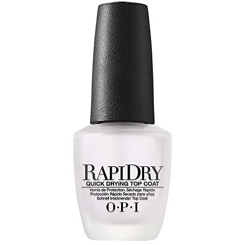 OPI RapiDry Top Coat, Quick Drying Nail Polish Top Coat, 0.5 fl oz