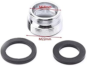 2sets Tap Aerator Connector Metal Outside Thread Water Saving Adaptor for Kitchen Faucet 16/18/20/22/24/28/mm to 22mm or G1/2 to 22mm