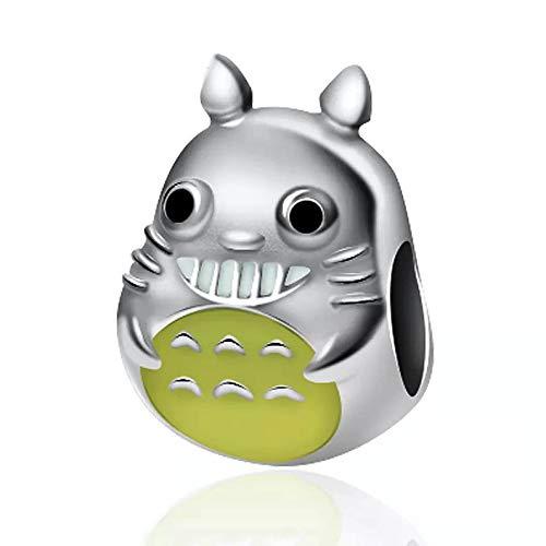 Bolenvi Cheerful Anime Cartoon Character 925 Sterling Silver Charm Bead for Pandora & Similar Charm Bracelets or Necklaces