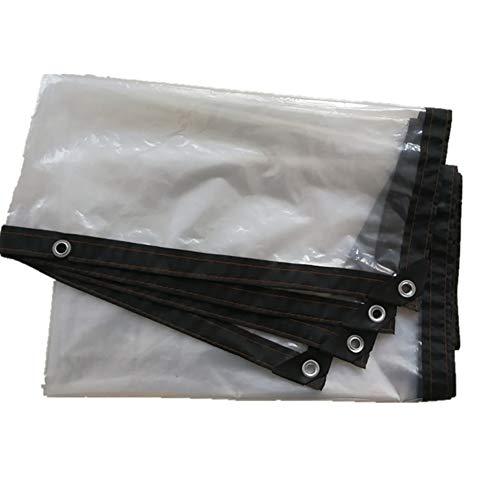 XUEYAN Épaissir la bâche Transparente de 0.12mm, Isolant d'usine de Tissu de fenêtre Coupe-Vent imperméable perforé de Bordure imperméable (Couleur : 4m×5m)