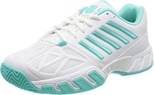 K-Swiss Bigshot Light 3 Womens Tennis Shoe - White/Aruba Blue