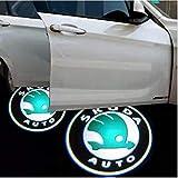 XENON BRIGHT Projecteurs de porte avec logo Skoda.