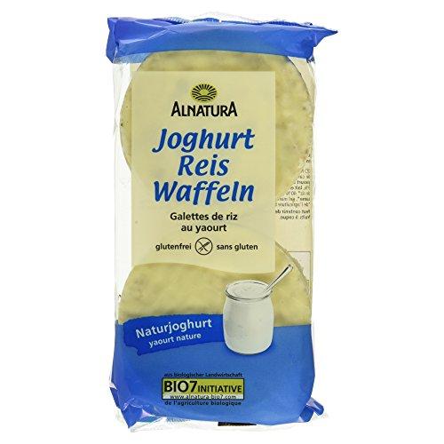 Alnatura Bio Joghurt-Reiswaffeln, glutenfrei, 12er Pack (12 x 100 g)