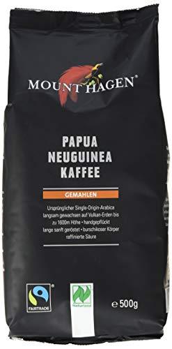 Mount Hagen Röstkaffee gemahlen 100 {eb14e3a8c563b03cb1fbd61d583b266d2830ce421c1db36bdc43363de3342a1f} Papua Neuguinea, FairTrade (1 x 500 g) - Bio