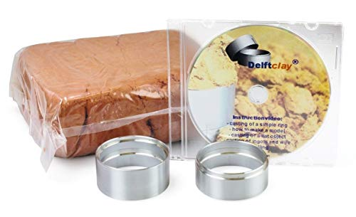 Delft Clay Original Casting Sand Kit Gold Silver Pewter Aluminum -Set Includes Ring & DVD