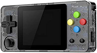 Ocamo Game Console, LDK Second Generation Open Source Version Mini Handheld Family Retro Games Console Transparent Black