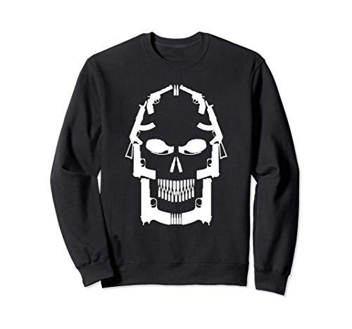 Totenkopf aus verschiedenen Waffen | Pistole Gewehr Waffe Sweatshirt
