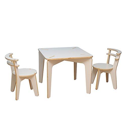 BaoChen - Juego de Mesa y Silla de Madera para niños – Muebles de Actividades para bebé, Lectura/Aprendizaje / Juegos en casa o en Aula para 1 a 12 años de Edad: