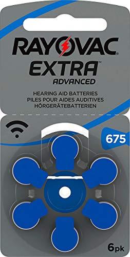 Rayovac Hörgeräte-Batterien 675 Extra Advanced 1,45V 640 mAh, 6er-Pack