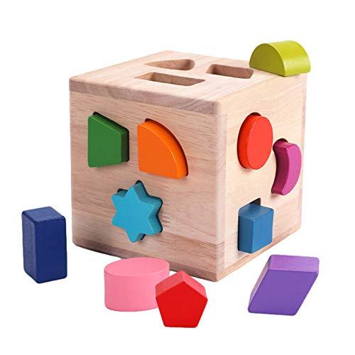 形合わせ 図形 幾何 木のおもちゃ 型はめ遊び 型はめパズル モンテソッリー教具 幾何認識 色認識 積み木 型はめ 幼児 ベビー 赤ちゃん 子供 男の子 女の子 木製 天然木 木のおもちゃ 木製玩具 12つの異なる形状