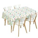 HKDZB Tischdecke Stoff Koreanisch Fresh Ins Stil Tischdecke Stuhlkissen Set rechteckig europäisch Stil Kunst Kaffee Tischdecke Tischdecke Fisch Fun Curling Tischdecke, weiß, 120x180cm