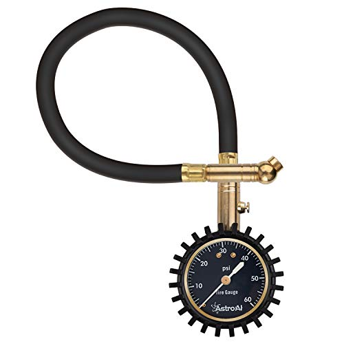AstroAI Tire Pressure Gauge Expert 060 PSI Certified ANSI B401 Accurate with Improved Needle and Chuck