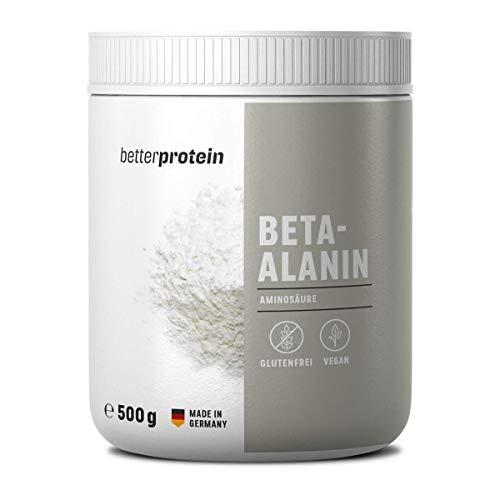 Beta Alanin - Laborgeprüft ohne Zusätze - Hochdosiert - Vegan - 500g - direkt vom Hersteller aus Deutschland - BetterProtein® - hochdosierte Aminosäuren zum Muskelaufbau und Abnehmen - Vegan -