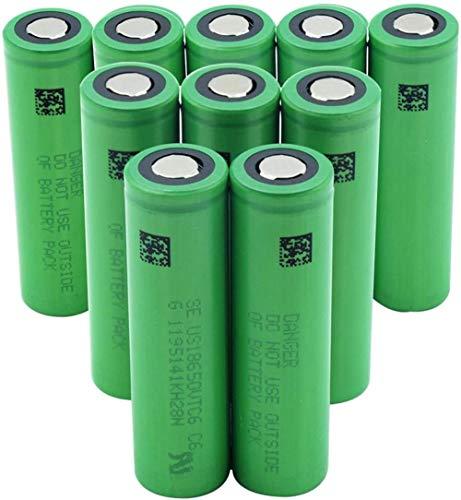 Green Us18650 Vtc6 3.7v 3000mah Batería de Repuesto de batería de Iones de Litio de Litio para Faros de Banco de energía 6 piezas-10 Piezas