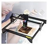 RSBCSHI Grabador láser de Escritorio 20W CNC Grabado máquina de Madera Cortador de Madera Tallado para Cuero acrílico MDF Logo Imagen DIY, para Metal, Vinilo, Madera, Cuero, Aluminio