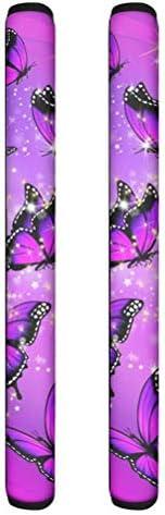 STUOARTE Purple Butterfly Print Refrigertor Door Handle Cover Kitchen Appliances Handle Wraps product image