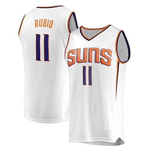 Rencai Ricky Rubio Jersey # 11# 3 del Baloncesto de los Hombres, Phoenix Suns Nueva Tela Alero sin Mangas de la Camisa de los Jerseys (Color : 2, Size : S)