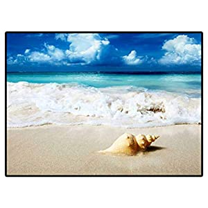 Area Rug Bedroom Seashell On The Beach Rug Carpets for Living Room Decor 6.6 X 10 Ft