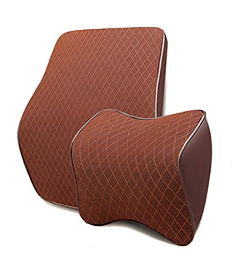 Las almohadas de apoyo lumbar y las almohadas para el cuello pueden aliviar el dolor de cuello, espuma viscoelástica suave, se pueden usar para viajes, cojines para asientos de automóvil