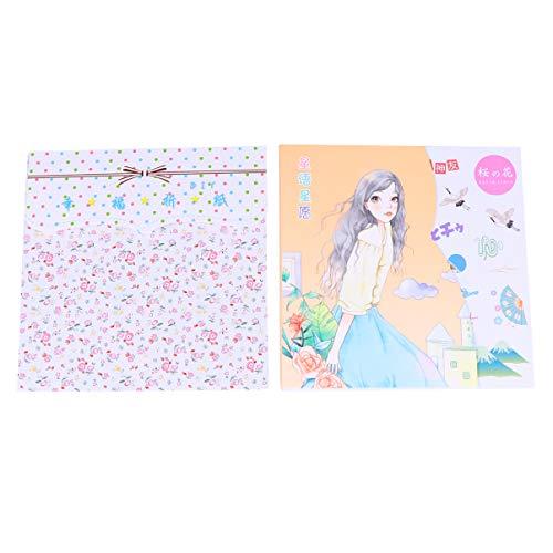 Amosfun 2 bolsas de papel de origami por un lado con 72 hojas, 12 colores, 80 hojas, 15 x 15 cm, papel plegable para niños, manualidades de papel, colores variados