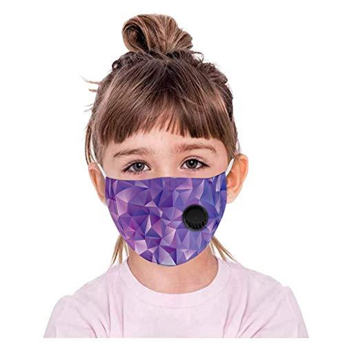 Lialbert - Protector bucal para niños, multifunción, diseño de dibujos animados 3D, máscara de algodón, transpirable, lavable, diseño de animales, bandana para el cuello, chico y niña A7. 1 Piezas