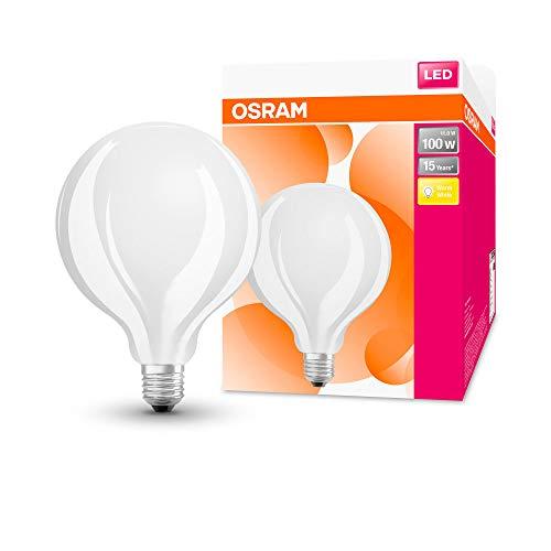 OSRAM LED Star Classic Globe, Sockel: E27, Nicht Dimmbar, Warmweiß, Ersetzt eine herkömmliche 100 Watt Lampe, Matt