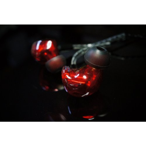 HEIR AUDIO 8.Ai RED In Ear Monitor Oortelefoon handgemaakt (afneembare kabel)