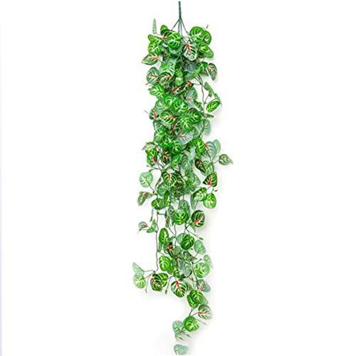 TTIK 12 Pack 110Cm Artificial Plants Creeper Green Leaf, Artificial Hanging Vines Plants Ivy Vines, for Home Wedding DIY Hanging Garland Artificial Flowers,D