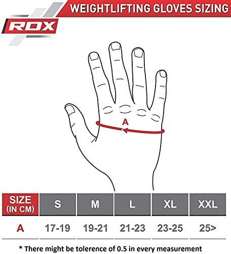 Authentische RDX Kuh haut leder Gewicht heben Gym Handschuhe Körper Fitness, Gr.M - 6