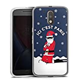 DeinDesign Motorola Moto G4 Coque en Silicone Étui Silicone Coque Souple PSG Paris Saint-Germain...