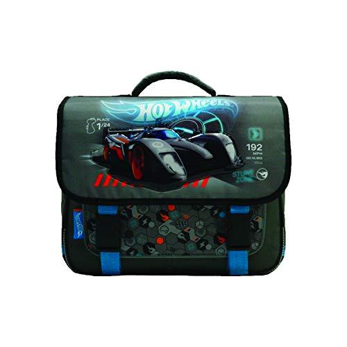 Bagtrotter Schulranzen 38 cm grau und blau Hot Wheels