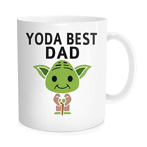 Chilltreads Yo-da Best Dad Coffee Mug, Unique Fathers Day Gifts from Daughter Son wife husband - Fun Novelty Cups