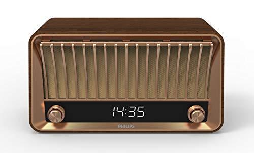 Philips Radio VS700/10 Bluetooth Dab+ Radio (Bluetooth, Dab+, 2 Altavoces de Banda Ancha, Sistema Bass-Reflex, 20 vatios), Color marrón