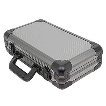 Watch Storage Case Aluminum Metal Briefcase for 12 Large Watches  Gunmetal Grey