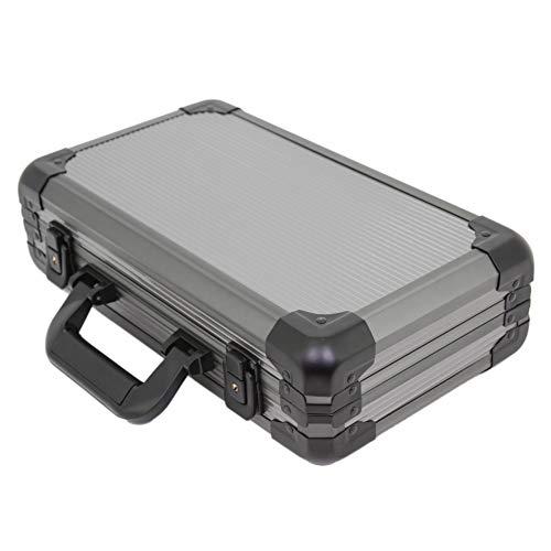 Watch Storage Case Aluminum Metal Briefcase for 12 Large Watches (Gunmetal...