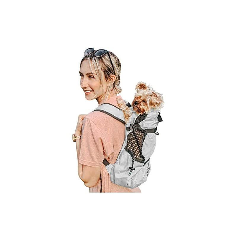 dog supplies online k9 sport sack   dog carrier backpack for small & medium pets   front facing adjustable dog backpack carrier   fully ventilated   veterinarian approved (small, air - charcoal grey)
