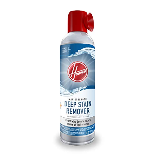 Hoover Max Strength Deep Stain Remover Aerosol Spray, Carpet and Upholstery Spot Cleaner, 15 oz Cleaning Solution, AH30903, White