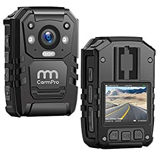 1296P HD Police Body Camera,128G Memory,CammPro Premium Portable Body Camera,Waterproof Body-Worn Camera with 2 Inch Display,Night Vision,GPS for Law Enforcement Recorder,Security Guards,Personal Use (B07MVMYRZK) | Amazon price tracker / tracking, Amazon price history charts, Amazon price watches, Amazon price drop alerts