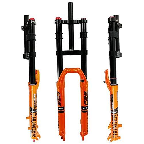 VTDOUQ Horquilla de Bicicleta MTB 27,5'Air Shock Am Horquilla de suspensión de Bicicleta 29' Bloqueo Manual Ajuste de Rebote Dirección Recta 1-1/8'QR 9 mm 2350g