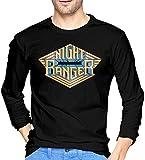 Monking T-Shirt Night Ranger Camiseta de Manga Larga para Hombre