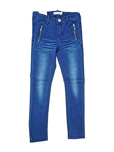 NAME IT Taff Skinny Denim Mädchen Glitzer Jeans Kinder Hose Blau Dunkelblau NOOS 13136093, Größe:98