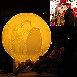 NSL Lighting Lampada da luna personalizzata Lampada personalizzata con foto Lampada lunare stampata in 3D Regali anniversari Regalo romantico per moglie Regalo per la fidanzata 15cm