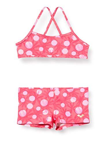 ARENA G Tropical Summer Top Jr Mädchen Bikini, Mädchen, Mädchen Bikini, 003083, Mehrfarbig (Freak Rose), 6-7 anni