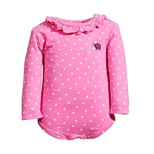 SALT AND PEPPER Baby-Mädchen Body Lucky Herzchen Stick Unterhemd, Bubble Gum, 92