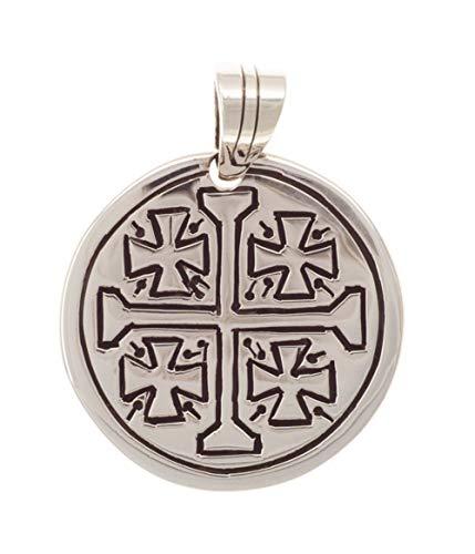 Jerusalemkreuz Kette Anhänger Silber 925