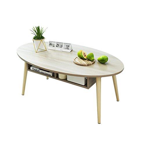 ZPWSNH woonkamer-salontafel, creatieve ovalen theetafel, massief hout, multifunctionele slaapkamer-bijzettafel, inklapbare kleine tafel