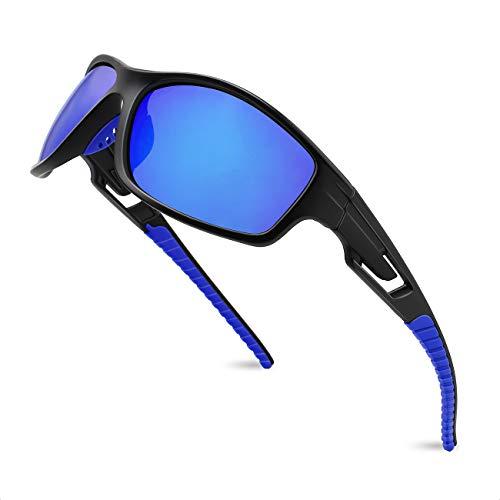 maxjuli Sport Sonnenbrille Herren Damen Tr90 Rahmen für Laufen Angeln Baseball Fahren MJ8013