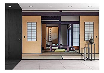 wall26 - Traditional Japanese Tea Room - Removable Wall Mural | Self-Adhesive Large Wallpaper - 100x144 inches