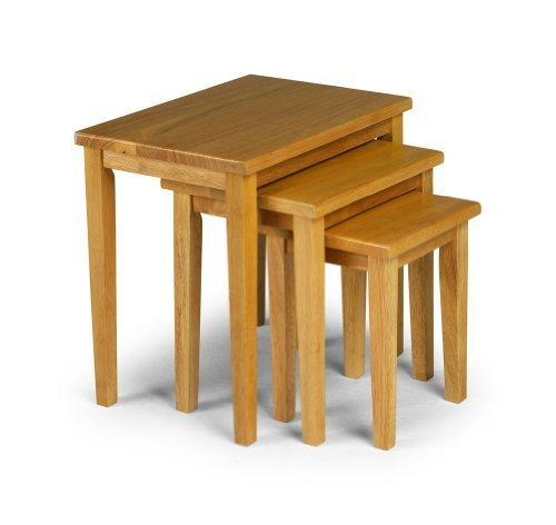 Julian Bowen Cleo Nest of Tables - Light Oak by Julian Bowen