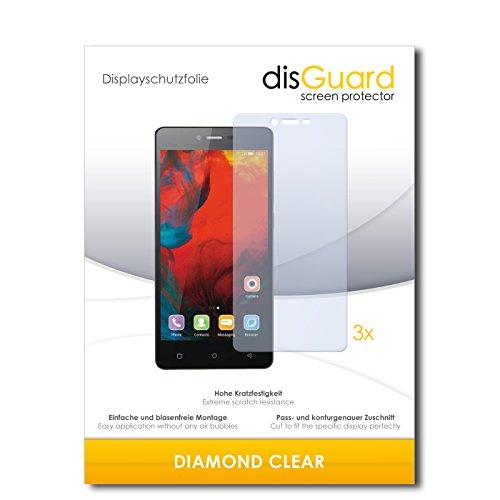 disGuard 3 x Schutzfolie Gionee F103 Bildschirmschutz Folie DiamondClear unsichtbar